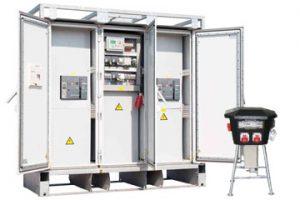 Verteilerkästen für Stromaggregate zum Mieten