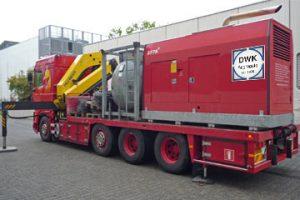 Vermietung von Stromaggregate mit eigener Logistik