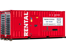 Mietaggregat 1250 kVA